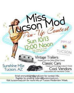 Event flyer for Vintage Trailer Show and Market