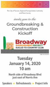 Event flyer for Ground Breaking & Construction Kick Off